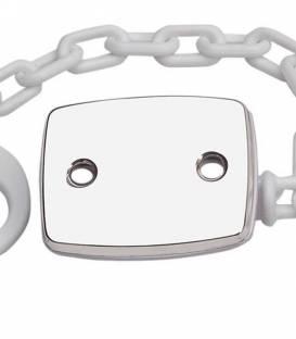 Chupetero plata rectangular