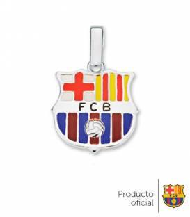 Colgante FC Barcelona plata de ley
