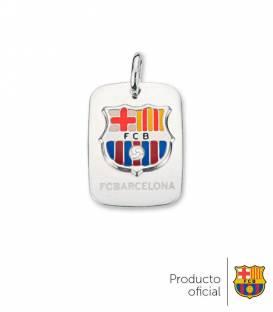 Colgante placa escudo FC Barcelona