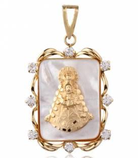 Medalla Oro y Nácar Virgen del Rocío