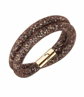 Pulsera Stardust Brown Double Swarovski 5184846