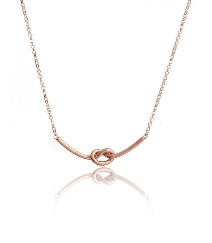 9cceb9d7f5c7 Colgante plata de ley bañada en oro rosa nudo
