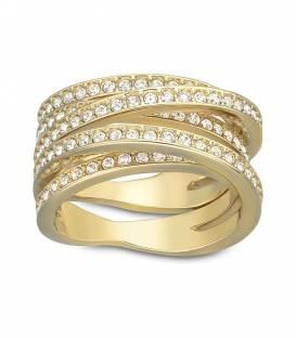 Anillo Swarovski Spiral dorado 5032928
