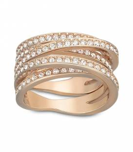 Anillo Swarovski Spiral rosado 5063925