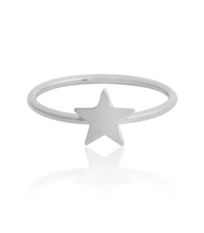 Anillo plata de ley Estrella
