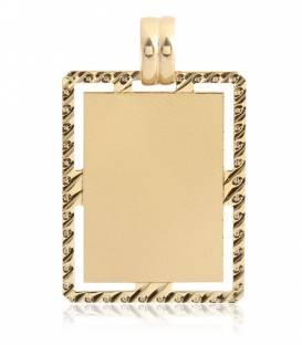 Colgante placa oro 18k