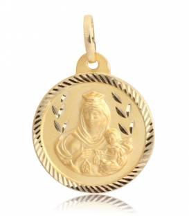 Medalla oro 18k Virgen y niño