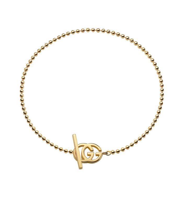 44b983fe17a8 Pulsera Gucci plata baño oro