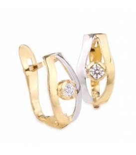 Conjunto Oro bicolor 18k y circonita