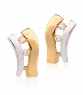 Conjunto Oro bicolor 18k y diamante