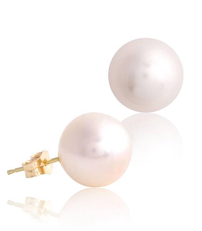 Pendiente perlas y oro 18k