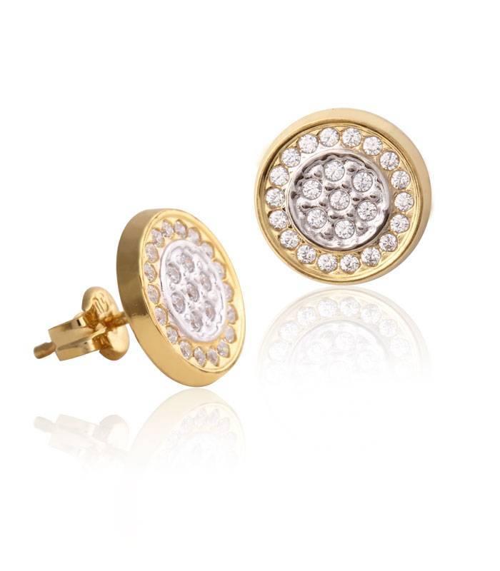 """Pendientes """"Circle"""" Oro bicolor 18k"""