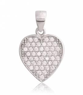 Colgante Plata de ley Corazón circonitas