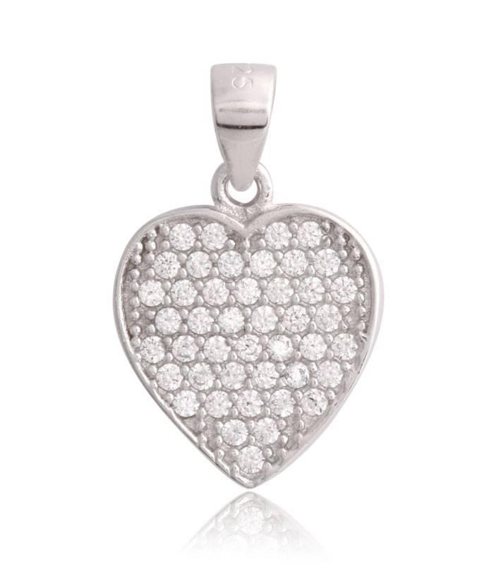 6db5acb24af9 Colgante Plata de ley Corazón circonitas