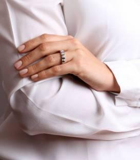 Anillo Oro Blanco Diamantes 1.03 cst