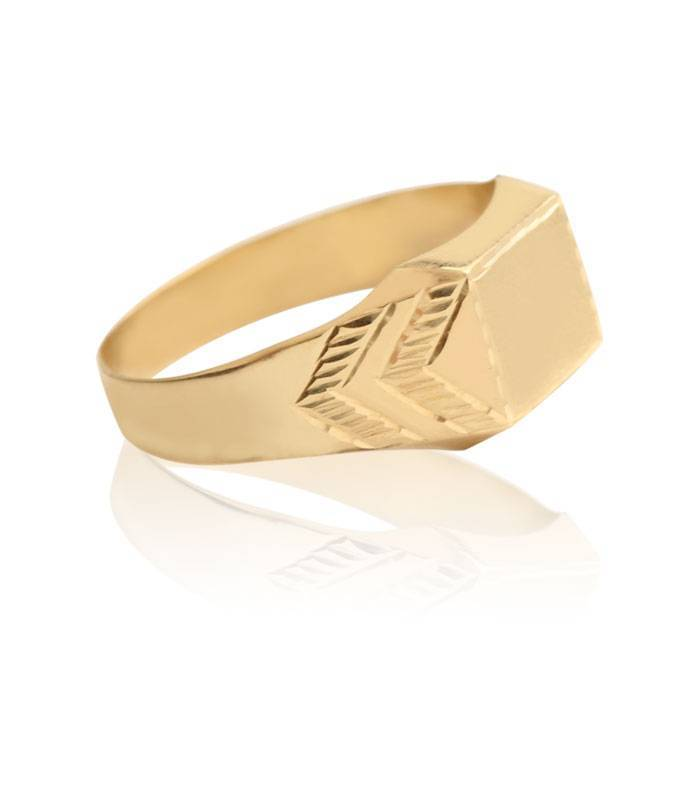 Sello Oro 18k cuadrado