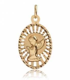 Medalla Ángel Oro 18k calado