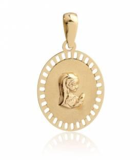 Medalla Virgen niña Oro 18k