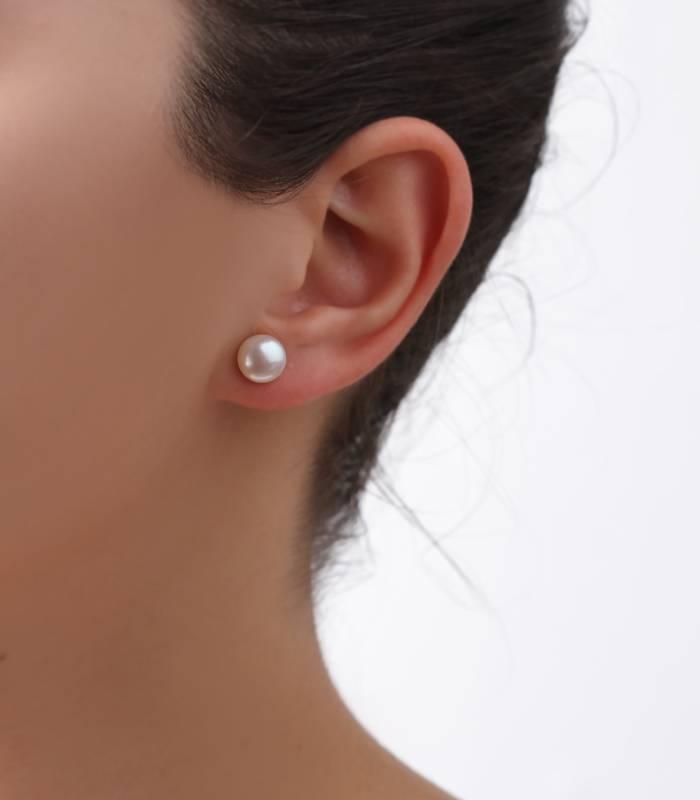 Pendientes de Oro Perlas