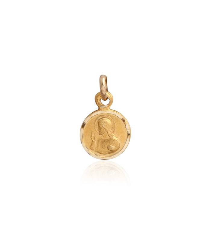 Medalla Lentejita Escapulario Oro 18k