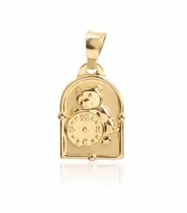Medalla de Oro 18k Osito y reloj