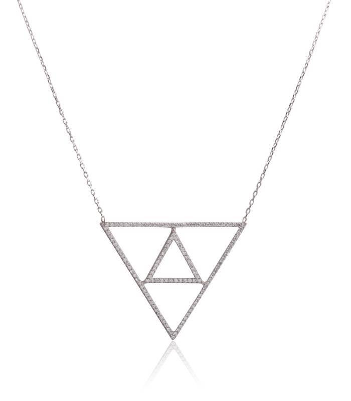 "Gargantilla ""Emphasis"" Triple triángulo"