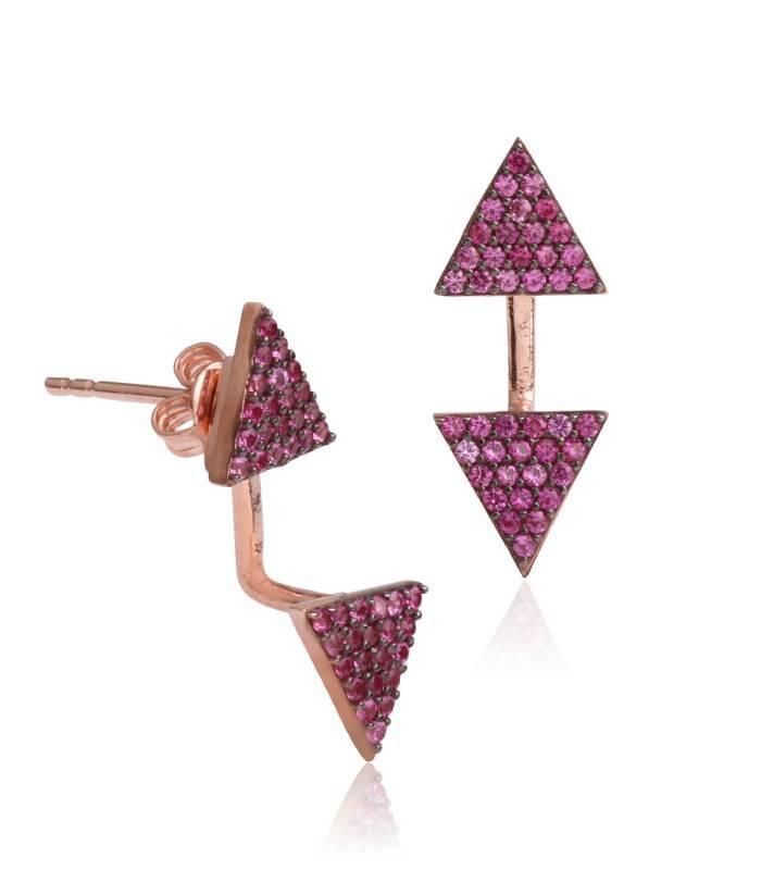 """Pendientes """"Emphasis"""" Triángulos rosas"""