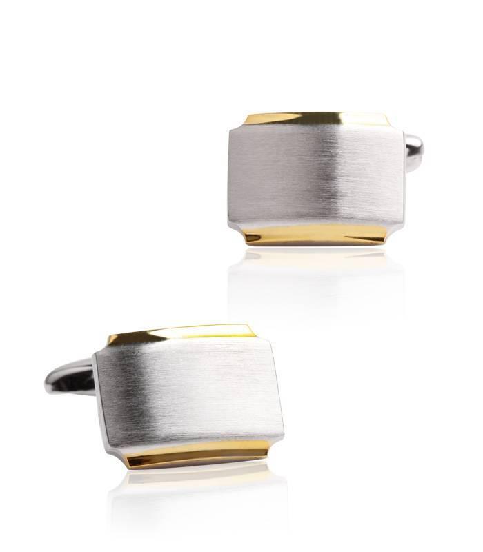 Gemelos plata y baño de oro 18k