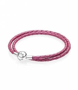 Pulsera Pandora cuero rosa 5907834CHP