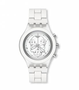 Reloj Swatch Full Blooded White Skull SVCW4000AG