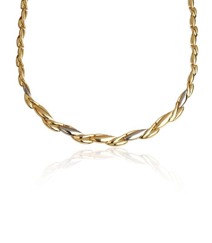 9606f033884e Gargantilla de oro bicolor 18k