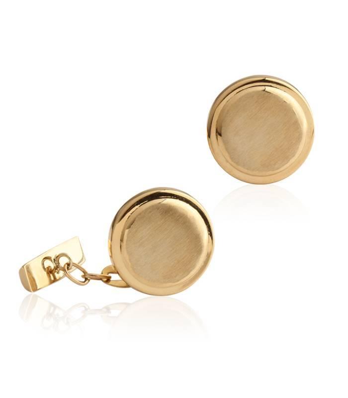 Gemelos de Oro 18k circulares