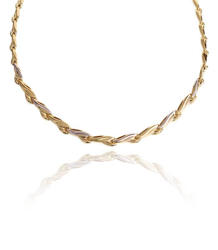 Gargantilla de oro bicolor 18k