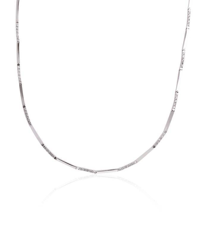 c1fd7c5b194d Collar Oro blanco 18k circonitas