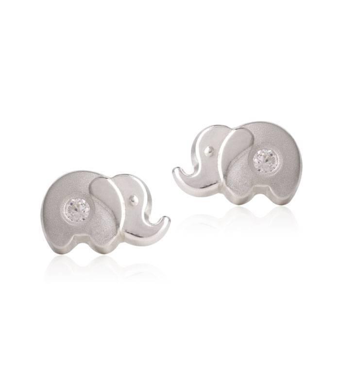 Pendientes Elefante de Plata