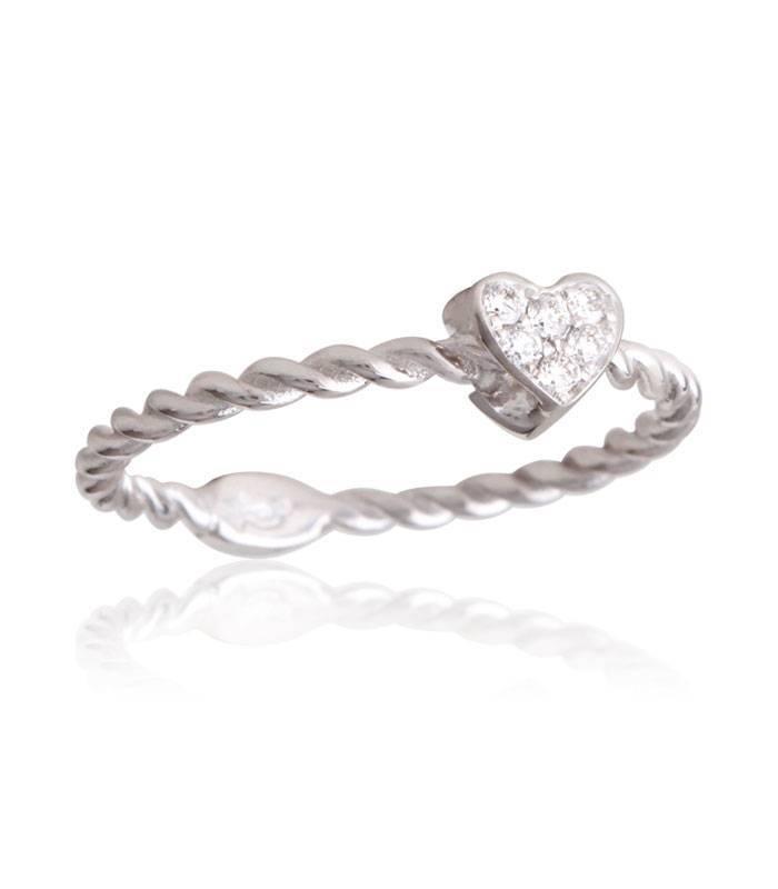 """Anillo """"LIFE Little Heart"""" Con Diamantes Oro 18k"""