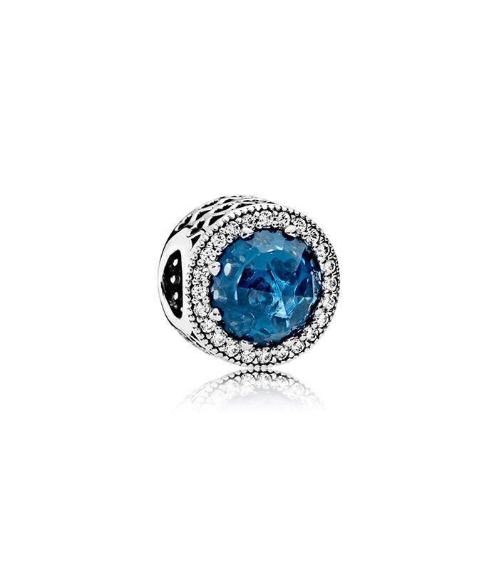 Charm Corazones Brillantes Azul Luz de Luna 791725NMB