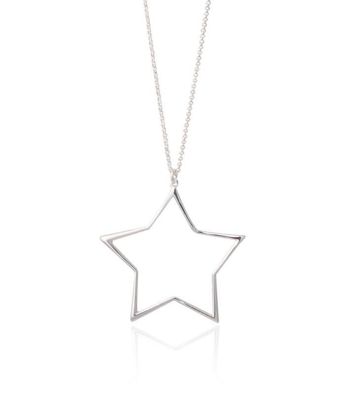 Colgante estrella con cadena Plata de Ley