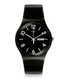 Reloj Swatch Backup Black SUOB715