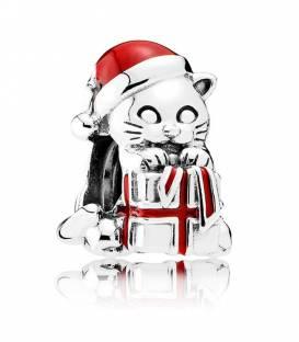 Charm Gatito de Navidad 792007EN39