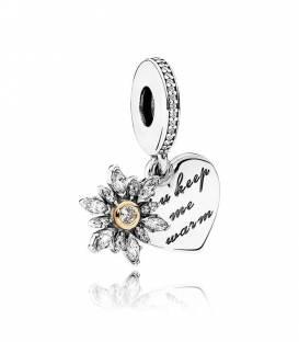 Charm colgante Corazón de Copo de Nieve 792012CZ