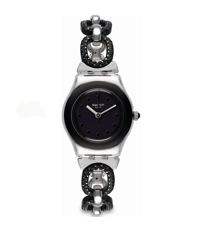 Reloj Swatch Black Glitter YSS293G
