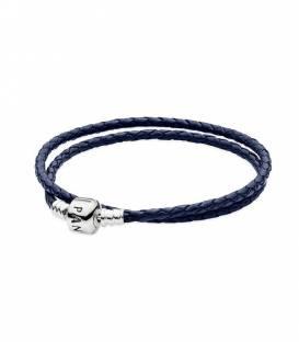 Pulsera de Cuero Azul Oscuro 590705CDB-D