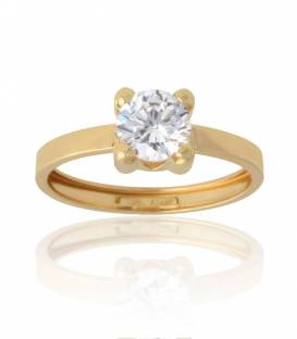 Anillo Light oro 18k y circonita 6,5 mm