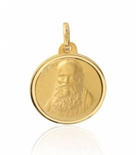 Medalla Fray Leopoldo oro 18k