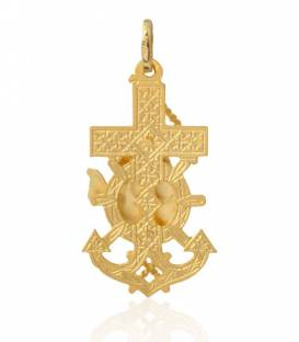 Cruz marinera Virgen del Carmen oro 18k