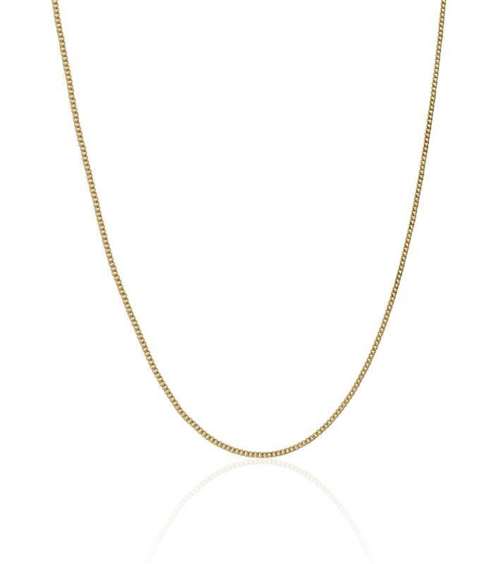 eceb3e04670e Cadena Oro amarillo 18k eslabón barbado pisado