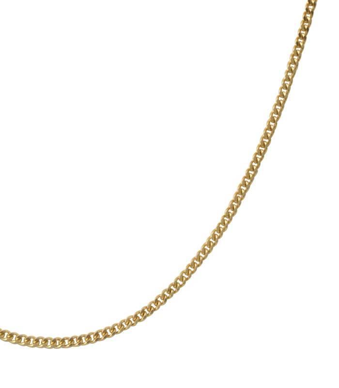 Cadena Oro amarillo 18k eslabón barbado pisado