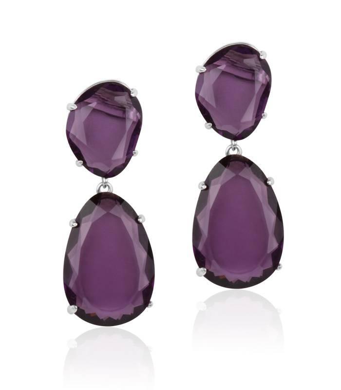 pendientes violeta