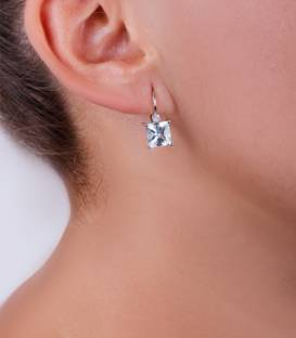 "Pendientes ""Torch"" Diamantes de 0,06 cts"